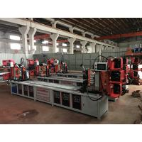 Quality Assemble Shelf Auto Pipe Welding Machine 3 Faces / 4 Faces Goods Shelf Beam Welding for sale