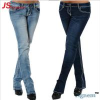 OEM ODM Straight Fashion Baggy Jeans Women Stock Stretch Washed