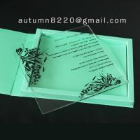 Quality wedding invitation plastic for sale