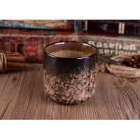 Quality Leopard Print Transmutation Ceramic Candle Holder For Scent Candle , Round Bottom for sale