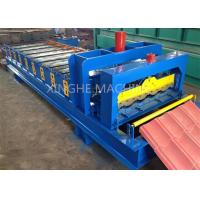 Quality Glazed 828 Step Tile Roof Panel Cold Roll Forming Mach / Roll Forming Equipment for sale