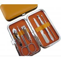 Quality Yellow 6 PCS Stainless Steel Manicure Pedicure Set Personal Care Tools for sale