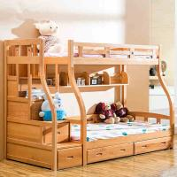 Quality Modern beech Wooden children Bunk bed,double bunk bed,double decker bed home furniture for sale