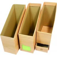 Quality Wood figure brown packaging gift boxes including pen container for sale