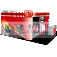 Quality 4D movie theater with movie poster , advertisement cinema cabin for sale