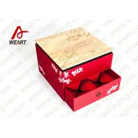 Quality Fabric & Die Cut Handle Recycled Paper Gift Box Small Size 110 * 50 * 190mm for sale