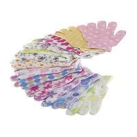 Quality House Exfoliating Bath Mitt Body Wash Gloves Wave Pattern Printed for sale