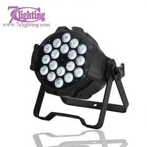 China LED Spotlight RGBWA Colors Wash Par64 DJ Lighting,18x15W LED Parcan DMX Sound Auto-run Control on sale