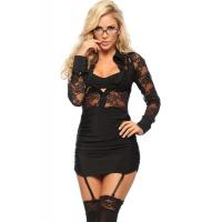 Naughty Executive Lady Halloween Adult Costumes , Black Sexy Adult Princess Costume