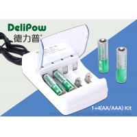 China 2 AA 1300mah Ni Mh Rechargeable Batteries , 2 AAA1000mAh Aaa Battery Charger on sale