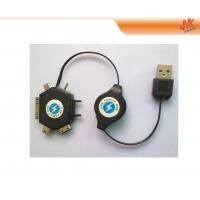Buy 6 in 1 Retractable USB Cables, data transmission for htc phones, IPod charging DC 5V 700mA at wholesale prices