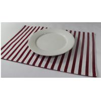 Quality 100% Cotton Red And White Striped Placemats Dining Room Table Mats 250gsm for sale
