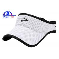 Quality Lightweight Waterproof Sun Visor Hats , Sunvisor Sun Baseball Cap With Binding for sale