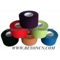 Quality Color Pack Cotton Adhesive Sports Rigid  Strapping Tape Athletic Trainer's Tape for sale