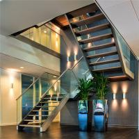 Quality Easy Glass frameless glass stair balustrade with Aluminum U base channel for sale
