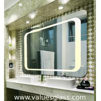 Quality 4mm Polished Silver Mirror LED Bathroom Mirrors With Touch Scree Switch for sale