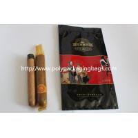 Quality custom made printed plastic cigar packaging bag / cigar humidor bag with slid zip lock for sale