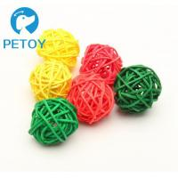 Quality Cats Rattan Ball Durable Pet Toys  Heavy Duty Dog Rope Toy Rattan Material for sale