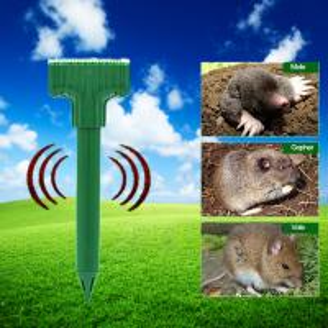 China Outdoor Ultrasonic Pest Repeller Gopher Sonic Spike Solar Mole Repeller on sale
