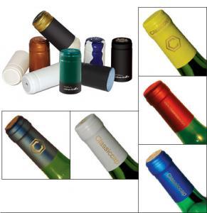 Quality Moisture Proof PVC Wine Bottle Caps UV Protection Plain / Printed Surface for sale