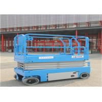 Ten Meters Mobile Scissor Lift Drive Speed Interlock Limits With Hydraulic System for sale