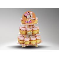 Buy Paper Round 2 layer cake pop stand / Modern Customized Cup Cake Display at wholesale prices