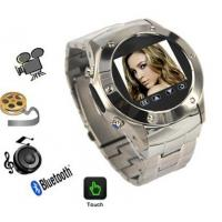 Quality quad band stainless steel wrist watch mobile phone W968 with 2.0mp camera and bluetooth for sale