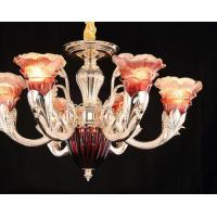 China Zinc Alloy Coloured Glaze Glass Crystal Ceiling Lamp For Bedroom on sale