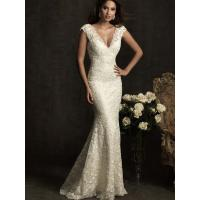 Quality NEW!!! Trumpet mermaid wedding dress V-neck with sweep_train bridal gown#nice for sale
