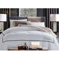 Quality Customized Hotel Quality Bed Linen King Size 330TC 100% Cotton Plain Satin Stripe for sale