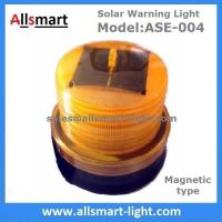 Quality Amber Solar Powered Magnet Signal Light Flashing Traffic Obstacle Barrier Warning Lights for Tower Crane Truck Car Boat for sale