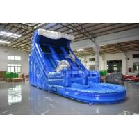 Quality EN14960 certified commercial 18ft dolphin inflatable water slide prices clearance for sale PVC material for sale