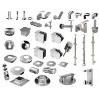Buy cheap SS handrail / Staircase fittings TP304( pipe carrier, bracket, base cover, end cap, elbow, flexible connector, top ) from wholesalers