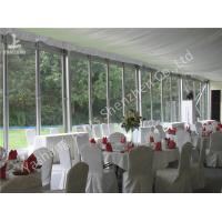 China Outdoor Glass Wall Ceremony Event Tent 20 X 25M 300 Seater Clear Span Marquee Hire on sale
