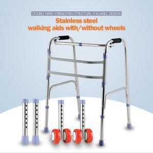 Quality Sponge Armrest Folding Walking Frame , Handicap Walking Aids For Seniors for sale