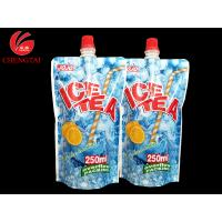 Custom 250ML Stand Up Spout Pouches / Doypack Packaging for Ice Tea for sale