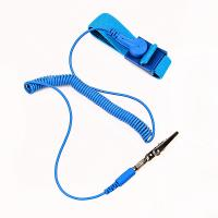 Quality cleanroom coiled cord static dissipative ESD antistatic wrist band for sale