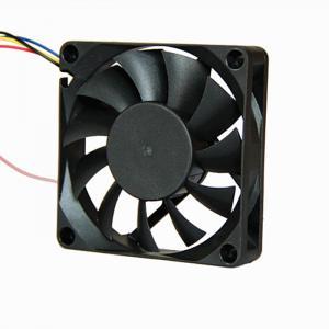 China Small Radiator Dc Brushless Fan 12v 24v 70x15mm PBT Housing Material on sale