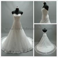 Quality Mermaid & Trumpet Sweetheart Beading Lace Wedding Dress #LT2138 for sale