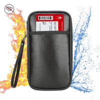 Quality Fireproof And Waterproof Document Bag , RFID Blocking Passport Holder for sale