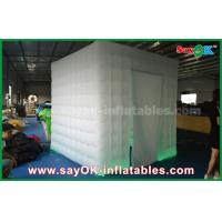 China White Oxford Cloth Inflatable Photo Booth Props Kiosk With Door Curtains on sale