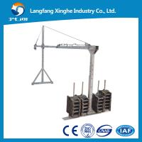 Quality Wire rope hanging platform / steel suspended platform / aluminum temporary gondola ZLP800 for high rise building for sale