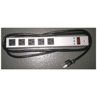 Quality Horizontal Surge Protector Power Strip 5 Outlet , Universal Electrical Power Bar for sale