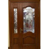 Quality high quantity wooden door decorative  glass with patina caming for sale