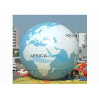 Quality Giant Air - Supported Earth Globe Balloons Sphere Shape Inflatable Earth Helium Ball for sale