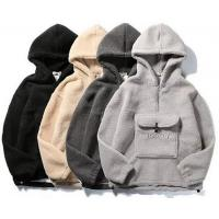 Blank Kangaroo Bag Mens Oversized Pullover Hoodie With Half Zipper Placket for sale