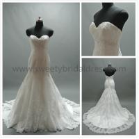 Quality Mermaid & Trumpet Sweetheart Beading Low Back Lace Wedding Dress #C0316a for sale