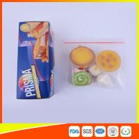 Quality PE Transparent Plastic Snack Bags With Zipper , Reusable Snack And Sandwich Bags for sale