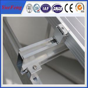 Quality Aluminum Solar Rail Mounting Structures, solar panel mounting aluminum rail for sale