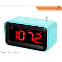 Buy Mini Speaker Digital Alarm Electronic Calendar Clock With Radio, Touch Screen at wholesale prices